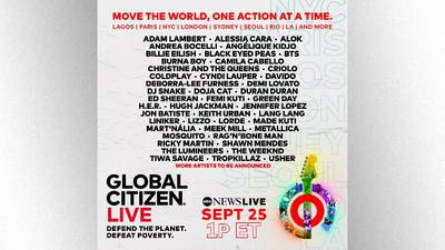 """Global Citizen Live: """"Utterly breathtaking artists"""" unite for """"once-in-a-generation moment"""" -- but """"we don't want your money,"""" says co-founder"""